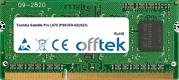 Satellite Pro L670 (PSK3FA-02U023) 4GB Module - 204 Pin 1.5v DDR3 PC3-8500 SoDimm