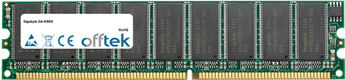 GA-K8NS 1GB Module - 184 Pin 2.6v DDR400 ECC Dimm (Dual Rank)