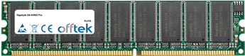 GA-K8NS Pro 1GB Module - 184 Pin 2.6v DDR400 ECC Dimm (Dual Rank)