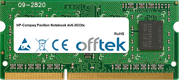 Pavilion Notebook dv6-3033tx 4GB Module - 204 Pin 1.5v DDR3 PC3-8500 SoDimm