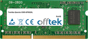 Qosmio X505-SP8020L 4GB Module - 204 Pin 1.5v DDR3 PC3-8500 SoDimm