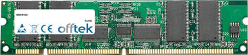 W100 256MB Module - 168 Pin 3.3v PC133 ECC Registered SDRAM Dimm