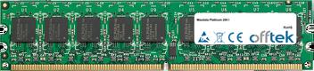 Platinum 200 I 2GB Module - 240 Pin 1.8v DDR2 PC2-5300 ECC Dimm (Dual Rank)