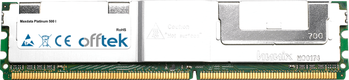 Platinum 500 I 4GB Kit (2x2GB Modules) - 240 Pin 1.8v DDR2 PC2-5300 ECC FB Dimm