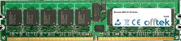 X2-105 Series 4GB Kit (2x2GB Modules) - 240 Pin 1.8v DDR2 PC2-5300 ECC Registered Dimm (Single Rank)