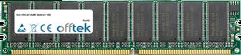 Ultra 20 (AMD Opteron 148) 2GB Kit (2x1GB Modules) - 184 Pin 2.6v DDR400 ECC Dimm (Dual Rank)