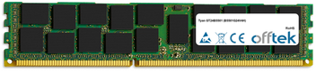 GT24B5501 (B5501G24V4H) 8GB Module - 240 Pin 1.5v DDR3 PC3-10664 ECC Registered Dimm (Dual Rank)