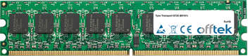 Transport GT20 (B5161) 4GB Kit (2x2GB Modules) - 240 Pin 1.8v DDR2 PC2-5300 ECC Dimm (Dual Rank)