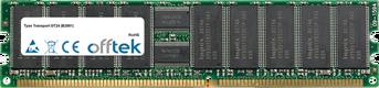 Transport GT24 (B2881) 2GB Module - 184 Pin 2.5v DDR400 ECC Registered Dimm (Dual Rank)