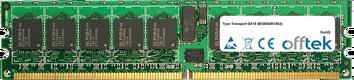 Transport GX18 (B5365GR18S2) 4GB Kit (2x2GB Modules) - 240 Pin 1.8v DDR2 PC2-5300 ECC Registered Dimm (Single Rank)