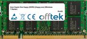 Aspire One Happy (DDR2) (Happy-xxx) (Windows 7 Starter) 1GB Module - 200 Pin 1.8v DDR2 PC2-5300 SoDimm