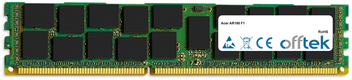 AR180 F1 16GB Module - 240 Pin 1.5v DDR3 PC3-8500 ECC Registered Dimm (Quad Rank)