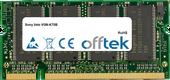 Vaio VGN-K70B 512MB Module - 200 Pin 2.5v DDR PC266 SoDimm