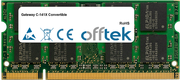 C-141X Convertible 2GB Module - 200 Pin 1.8v DDR2 PC2-4200 SoDimm