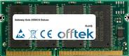 Solo 2550CS Deluxe 128MB Module - 144 Pin 3.3v PC100 SDRAM SoDimm