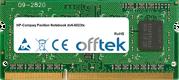 Pavilion Notebook dv6-6023tx 4GB Module - 204 Pin 1.5v DDR3 PC3-10600 SoDimm