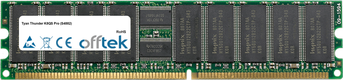 Thunder K8QS Pro (S4882) 2GB Module - 184 Pin 2.5v DDR266 ECC Registered Dimm (Dual Rank)