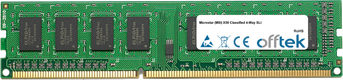 X58 Classified 4-Way SLI 4GB Module - 240 Pin 1.5v DDR3 PC3-8500 Non-ECC Dimm