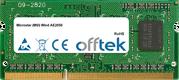 Wind AE2050 2GB Module - 204 Pin 1.5v DDR3 PC3-10600 SoDimm