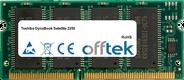 DynaBook Satellite 2250 128MB Module - 144 Pin 3.3v PC100 SDRAM SoDimm