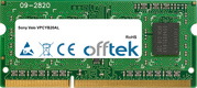 Vaio VPCYB20AL 4GB Module - 204 Pin 1.5v DDR3 PC3-8500 SoDimm