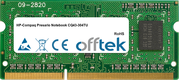 Presario Notebook CQ43-304TU 4GB Module - 204 Pin 1.5v DDR3 PC3-8500 SoDimm