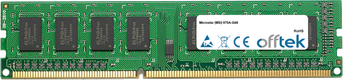 970A-G46 4GB Module - 240 Pin 1.5v DDR3 PC3-8500 Non-ECC Dimm