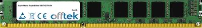 SuperBlade SBI-7427R-SH 32GB Module - 240 Pin 1.5v DDR3 PC3-10664 ECC Registered Dimm (VLP)