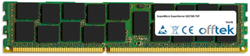 SuperServer 2027GR-TSF 8GB Module - 240 Pin 1.5v DDR3 PC3-10664 ECC Registered Dimm (Dual Rank)