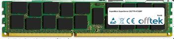 SuperServer 2027TR-H72QRF 16GB Module - 240 Pin 1.5v DDR3 PC3-10600 ECC Registered Dimm (Quad Rank)
