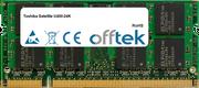 Satellite U400-24K 4GB Module - 200 Pin 1.8v DDR2 PC2-6400 SoDimm