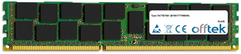 TA77B7061 (B7061T77W8HR) 16GB Module - 240 Pin 1.5v DDR3 PC3-8500 ECC Registered Dimm (Quad Rank)