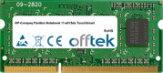 Pavilion Notebook 11-e015dx TouchSmart 8GB Module - 204 Pin 1.5v DDR3 PC3-12800 SoDimm