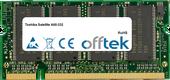 Satellite A60-332 1GB Module - 200 Pin 2.5v DDR PC333 SoDimm