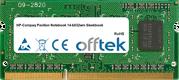Pavilion Notebook 14-b032wm Sleekbook 8GB Module - 204 Pin 1.5v DDR3 PC3-12800 SoDimm