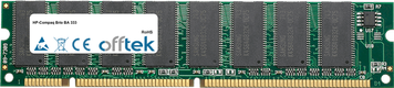 Brio BA 333 128MB Module - 168 Pin 3.3v PC100 SDRAM Dimm