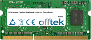 Pavilion Notebook 11-e001sa TouchSmart 8GB Module - 204 Pin 1.5v DDR3 PC3-12800 SoDimm