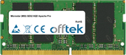 GE62 6QD Apache Pro 16GB Module - 260 Pin 1.2v DDR4 PC4-17000 SoDimm