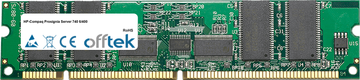 Prosignia Server 740 6/400 256MB Module - 168 Pin 3.3v PC100 ECC Registered SDRAM Dimm