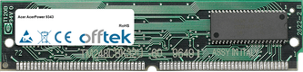 AcerPower 9343 64MB Kit (2x32MB Modules) - 72 Pin 5v EDO Non-Parity Simm