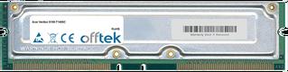 Veriton 9100-T1400C 512MB Kit (2x256MB Modules) - 184 Pin 2.5v 800Mhz ECC RDRAM Rimm