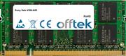 Vaio VGN-A63 1GB Module - 200 Pin 1.8v DDR2 PC2-4200 SoDimm