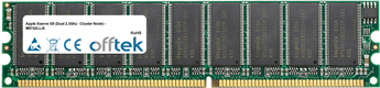 Xserve G5 (Dual 2.3Ghz - Cluster Node) - M9742LL/A 2GB Kit (2x1GB Modules) - 184 Pin 2.6v DDR400 ECC Dimm (Dual Rank)