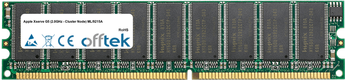 Xserve G5 (2.0GHz - Cluster Node) ML/9215A 2GB Kit (2x1GB Modules) - 184 Pin 2.6v DDR400 ECC Dimm (Dual Rank)