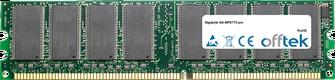 GA-8IPE775 pro 1GB Module - 184 Pin 2.5v DDR333 Non-ECC Dimm