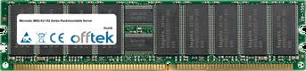 K2-102 Series Rackmountable Server 4GB Kit (2x2GB Modules) - 184 Pin 2.5v DDR266 ECC Registered Dimm (Dual Rank)