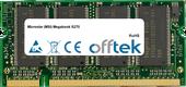 Megabook S270 1GB Module - 200 Pin 2.6v DDR PC400 SoDimm