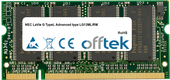 LaVie G TypeL Advanced type LG13ML/RM 1GB Module - 200 Pin 2.5v DDR PC333 SoDimm
