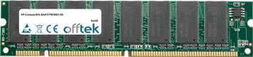 Brio BA410 PIII 866/1.0G 256MB Module - 168 Pin 3.3v PC133 SDRAM Dimm