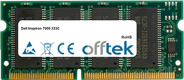 Inspiron 7000 333C 64MB Module - 144 Pin 3.3v PC100 SDRAM SoDimm